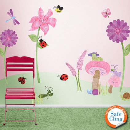 bugs blossoms wall sticker kit now available through my