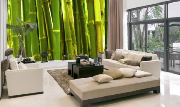 Pin vinilos decorativos adhesivos de pared naturaleza for Murales decorativos
