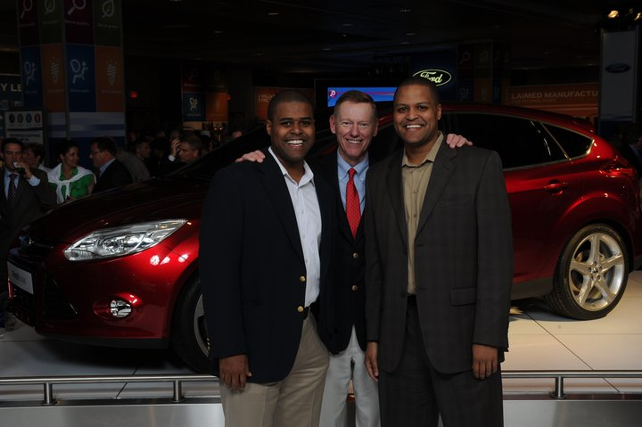 Rik and Ray Fregia Jr with Ford's CEO Alan Mulally