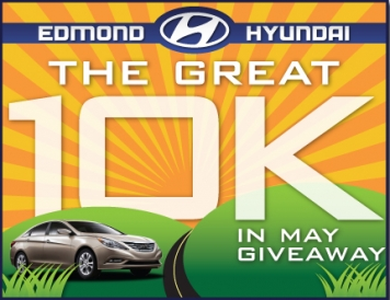 Edmond Hyundai's Great 10K in May Giveaway