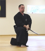 Shin Dojo Sensei Rob Rivers performs at Swordfest