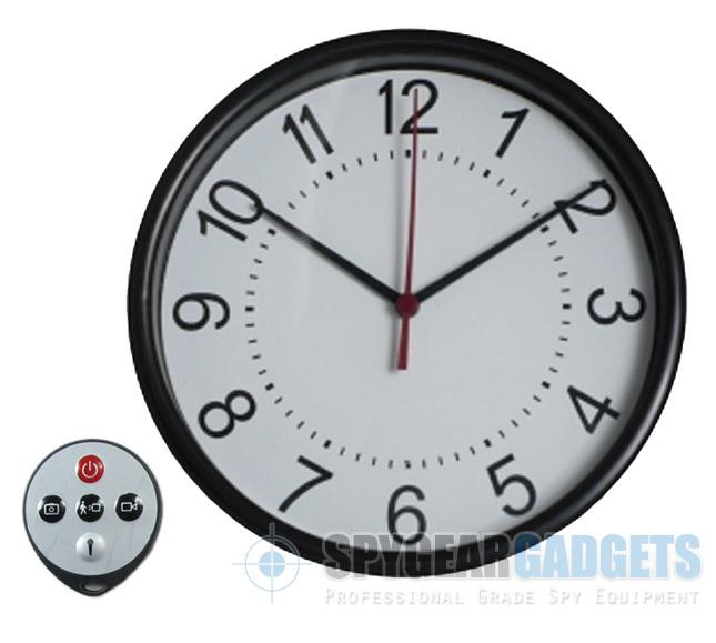 Wall Clock Hidden Camera with Remote