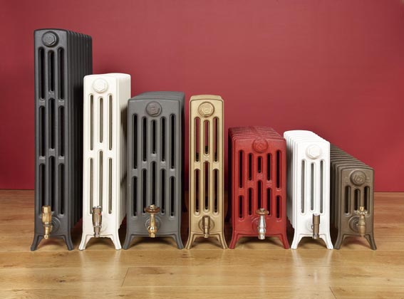 Cast iron radiators, based on Victorian designs