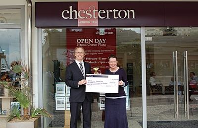Chesterton presents cheque to Childline Gibraltar
