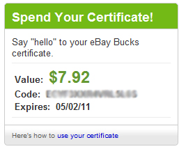 Ebay coupon code free shipping