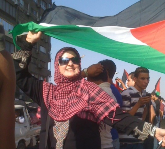 Aishah Schwartz at May 6 Pro-Palestinian Protest - Cairo, Egypt.