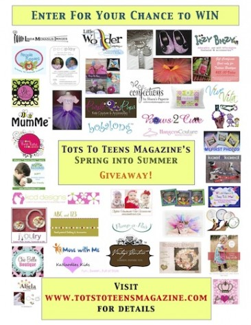 Tots To Teens Magazine Spring into Summer Giveaway