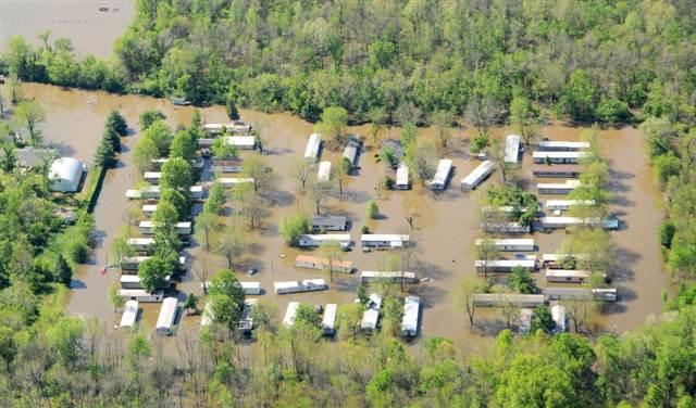 Flooding Missisippi River