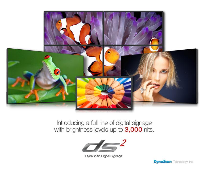 DynaScan DS² Professional Digital Signage LCDs