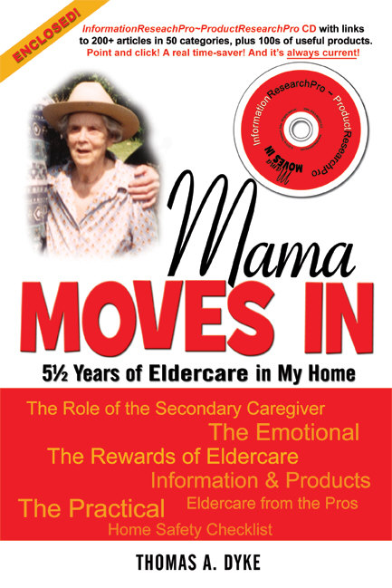 Mama Moves In--an elder care book with databases