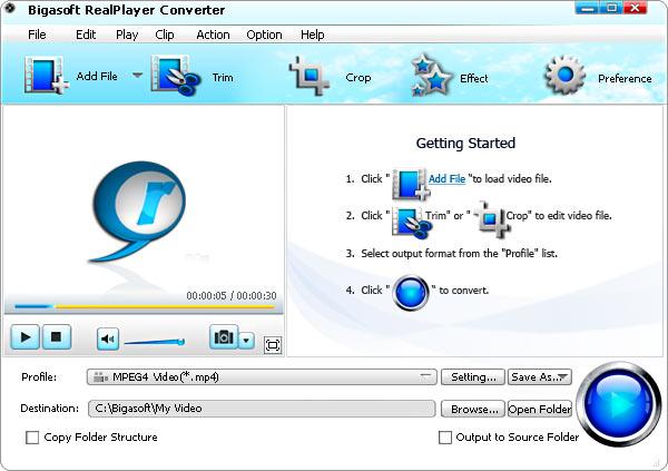 Bigasoft released RealPlayer Converter – Converter RealPlayer video ...