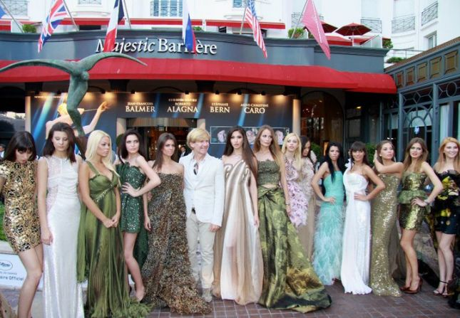 Majestic Hotel, Cannes with Contestants