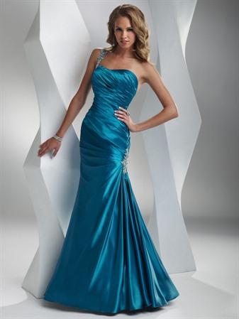 Formal Evening Dress on Island Blue Scarlet Steel Prom Dresses Beaded   Prlog