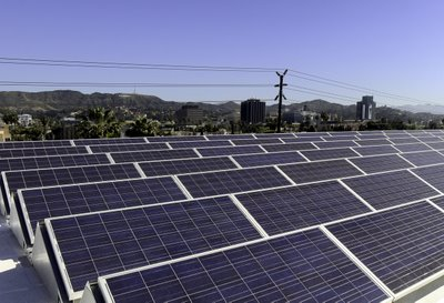 Solar Panels, Stage 10 at Hollywood Center Studios