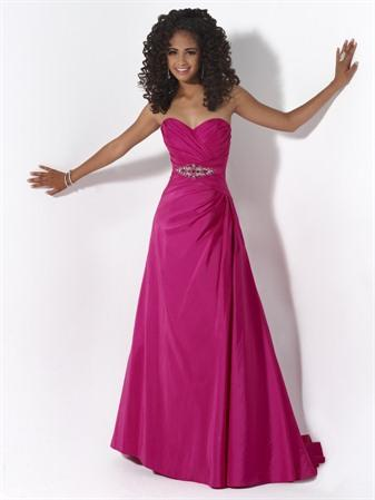 Hot Berry Pink Jeweled Sweetheart Neckline Prom Dresses -- www ...