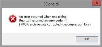 ISDone.dll Error