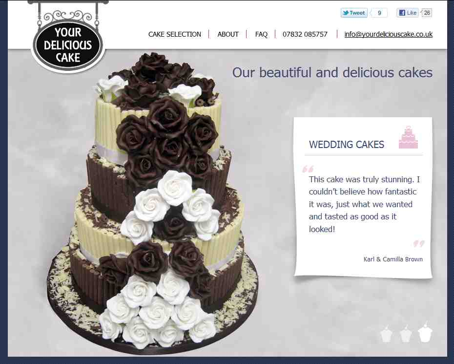 Your Delicious Cake website screenshot
