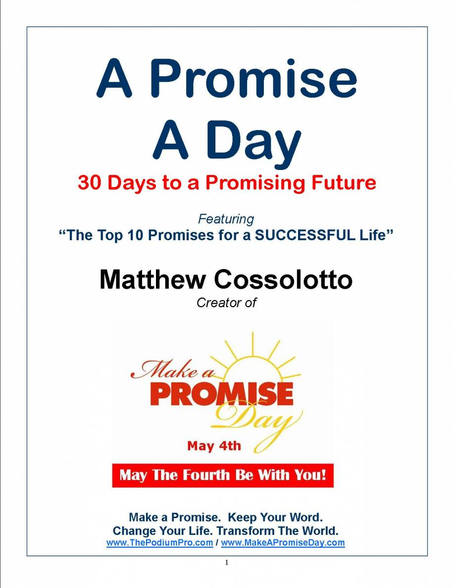 "Cossolotto's new ""A Promise A Day"" ebook"
