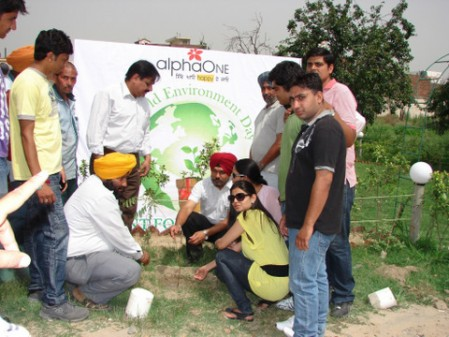 Tree Planting at AlphaOne, Amritsar