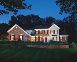 The Chelsea Farmhouse model home at Morris Hunt