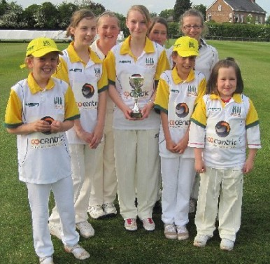 The Middlewich Girl's Cricket Team