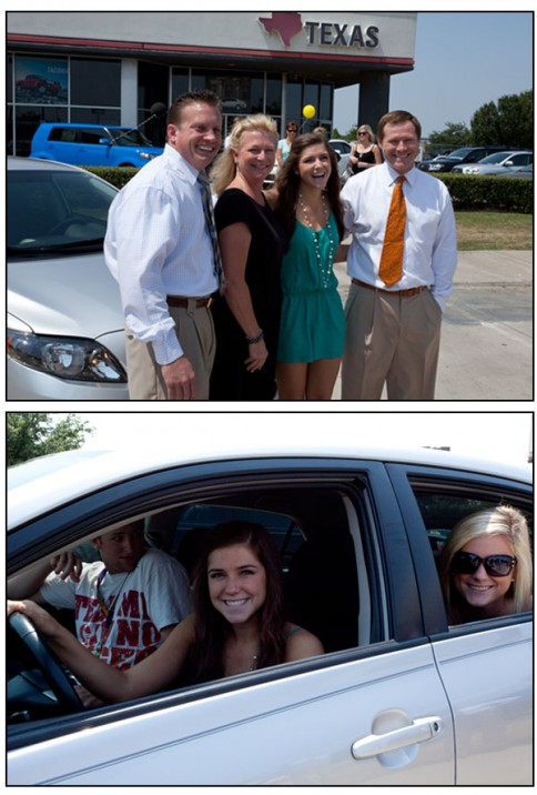 Above: Katy Watson wins a car from Texas Toyota!