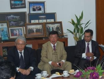 (L- R)Mr. Nakauchi, Mr.N. Ueda and Dr. Rahim
