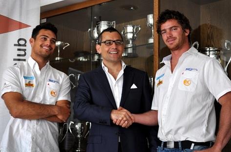 From left to right Benji Borg, EC Chairman Andrew Mangion, Seb Ripard - small