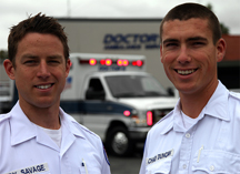 Chad Duncan and Andy Savage, EMTs
