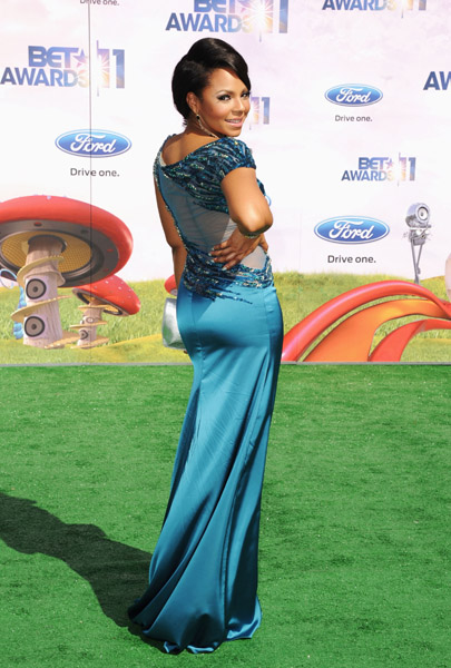 Ashanti Wears Jean Fares Couture