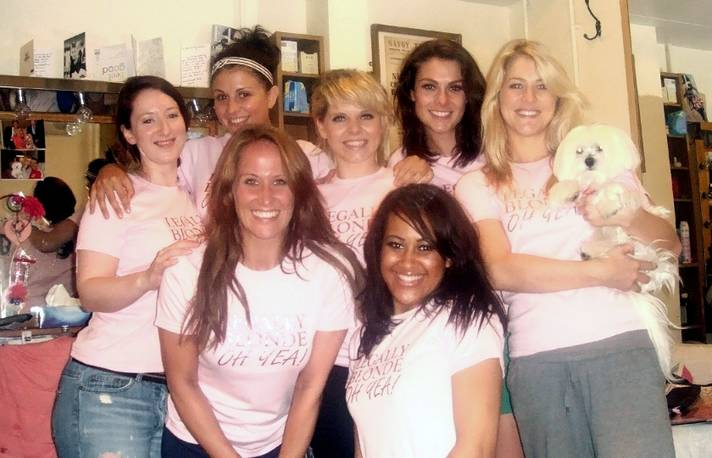 Legally Blonde Cast Race for Life Sun 3 July in Urban Pup tshirts