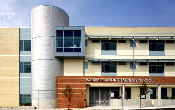 Elementary School Features Metal Sales Panels