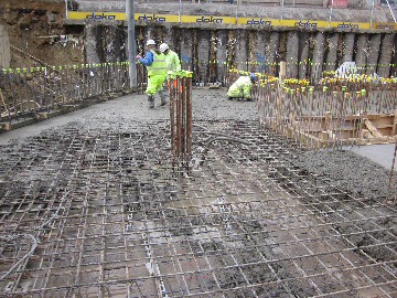 PUDLO waterproof concrete at INTO Newcastle