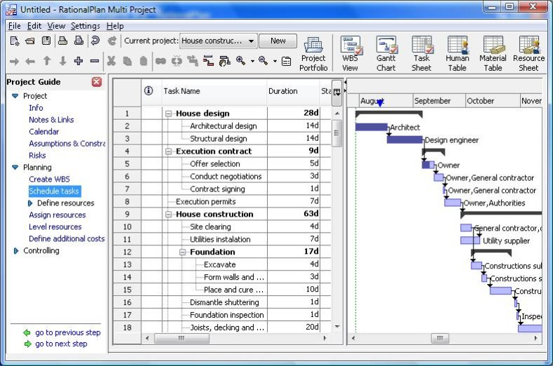 Rationalplan project management software 3.22
