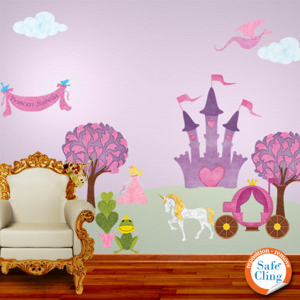 personalized princess wall decals for girls room now available through
