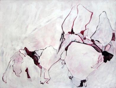 "Sarah Intemann, Scarlet Ribbons, 38"" x 50"""
