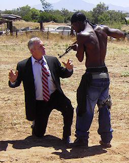 Tim Morarity held at gunpoint. (RLC Photo)