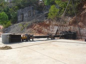 250 Tonn Bollard Being Load Tested in Trincomalee
