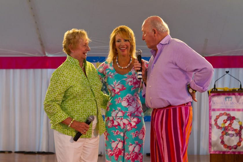 Angela Moore with Bud Collins & Peachy Kellmeyer