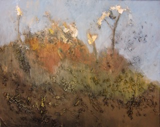 Small White Flowers in Fall - 2010 - mixed media on canvas - 20 x 24 in.