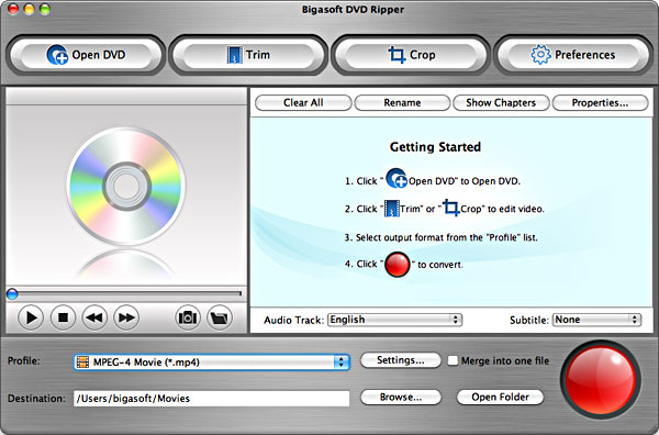 Rip DVD on OS X Lion