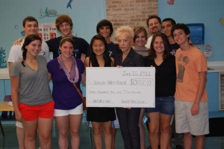 The Briarcliff students presented their gift in early summer 2011.