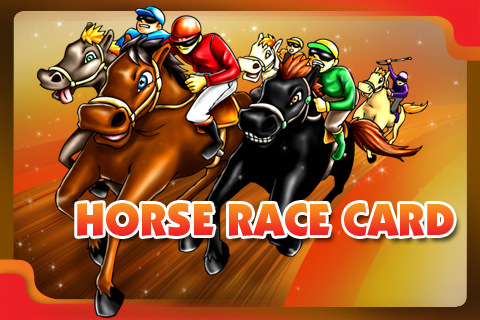 Horse Race Card (Trademark Logo  Card Face)