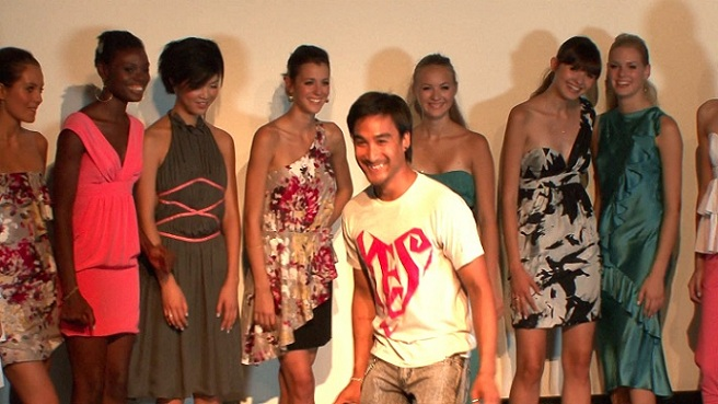 Manivong at New York Fashion Week show in DRESSED.