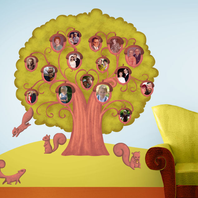 Acorn Family Tree Wall Sticker