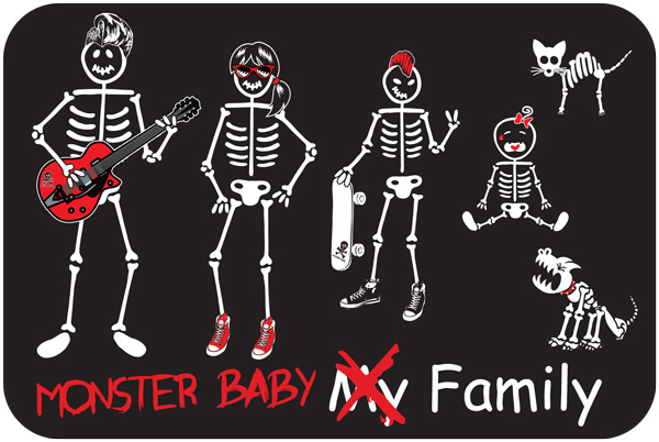 Monster Baby clothing's My Family print