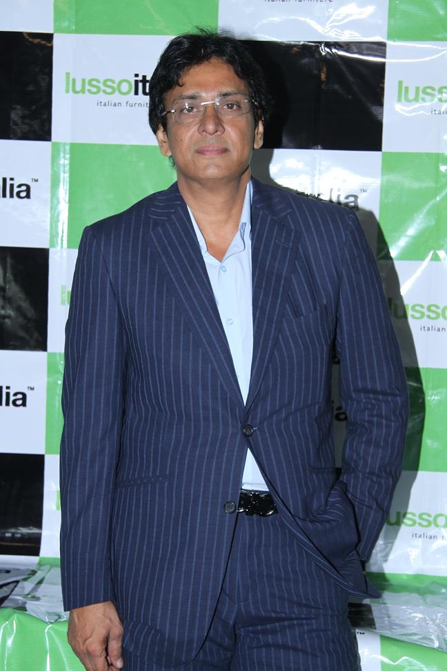 Mr.Syed Musharaff , the MD of Lussoitalia at the launch of the studio