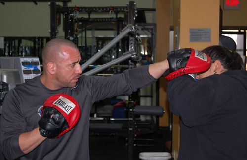MAR-JCC Personal Trainer teaches boxing.