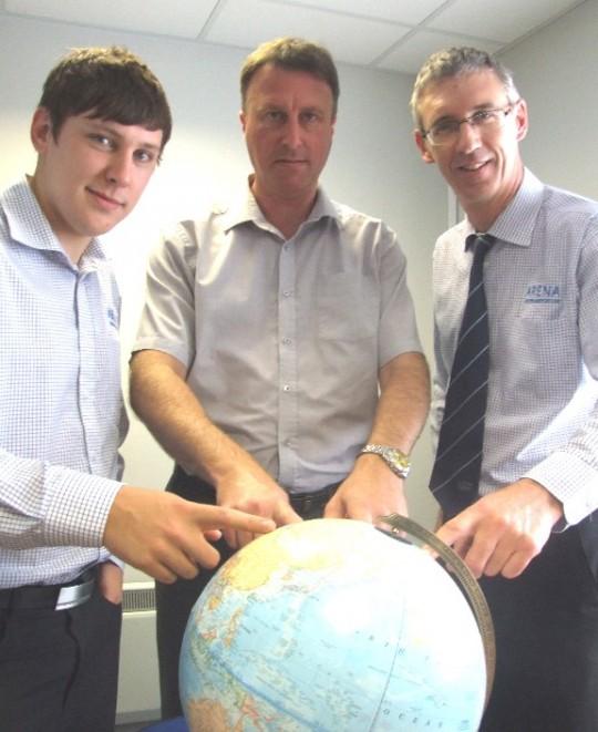 Cliff Bathgate (centre) and his team plan their next trip