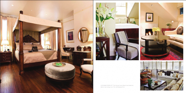 Stonehurst Place page layout in Great Inns book
